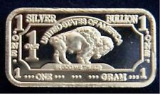 1 Gram .999 fijn Zilver baar,Silver Bullion buffalo bar