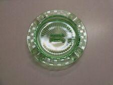 Vintage Hazel Atlas Green Depression Glass Ashtray