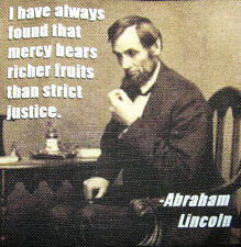 ABRAHAM LINCOLN QUOTE 3 - Printed Patch - Sew On - Vest, Bag, Backpack, Jacket!