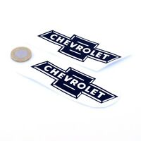 Chevrolet Old Badge Sticker Decal Classic Car Vinyl 100mm x2 American Muscle