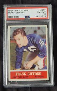 1964 PHILADELPHIA #117 FRANK GIFFORD CARD /  PSA 8