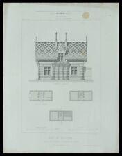 BOIS DE BOULOGNE, MAISON DE GARDE - 1867- GRAVURE ARCHITECTURE - GABRIEL DAVIOUD