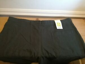 Men's Black Linen Blend Marks and Spencer Trousers Size 38W 29L