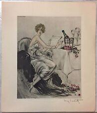 Louis ICART Eau forte  réalisée en 1926 pour les Champagnes Ayala superbe !!!!