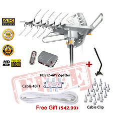 LAVA HD-2605 HDTV Outdoor Amplified Antenna J-pole Digital UHF/VHF/FM Free Gift