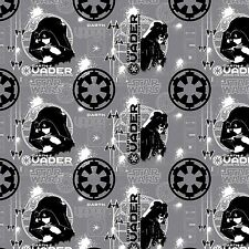 Star Wars Rogue One Grey Darth Vader 100% cotton Camelot fabric by the yard