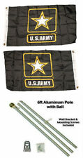 2x3 0.6mx3 ' U. S. ARMY ESTRELLA 2 Capas Bandera ALUMINIO Polo Kit