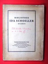 Auktions-Katalog * Joseph Baer & Co. – Ida Schoeller – 1921