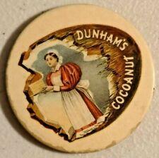 Antique 1920s Dunham's Cocoanut Lady Baker Victorian Advertising Mirror - 2134