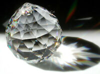 30mm Bohemian Crystal Clear Ball Sphere Prism SunCatcher Feng Shui 1-3/8""