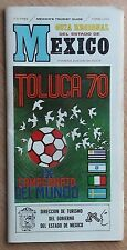 Programs World Cup 1970, Mexico, group Israel, Italy, Sweden Uruguay