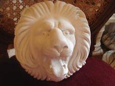 stuc- Figure de plâtre - Magnifique Tête de lion Relief de coincé d=22 cm