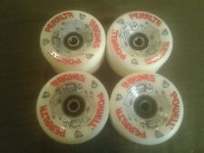 New - Powell Peralta G-bones Skateboard Wheels and Bones Swiss bearings - White