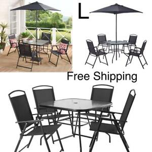 New, Albany Lane 6 Piece Outdoor Patio Dining Set, Black, Free Shipping.