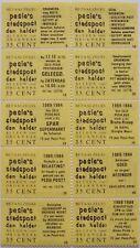 Stadspost Den Helder 1983 - Velletje v. 10 betaalzegels met diverse teksten 9-50