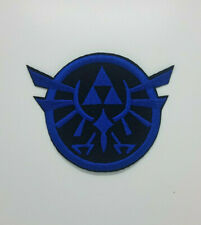 Legend Of Zelda Blue Triforce Logo Patch 3 inches tall