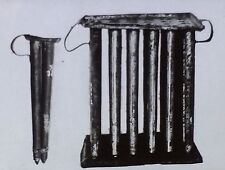 Large & Small Candle Molds, Magic Lantern Glass Slide, (From a Photograph)