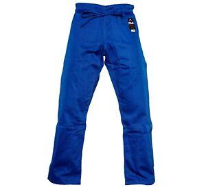 New Fuji Sports All Around Mens Brazilian Jiu Jitsu Jiu-Jitsu BJJ Blue Gi Pants