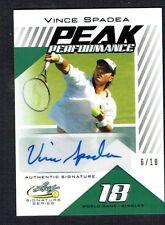 Vince Spadea PP-VS1 signed autograph auto 2017 Leaf Tennis Peak Performance 6/10