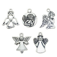 ❤ 4 x Tibetan Silver FOCAL FAIRY With WAND Pendant 49mm Jewellery Making ❤