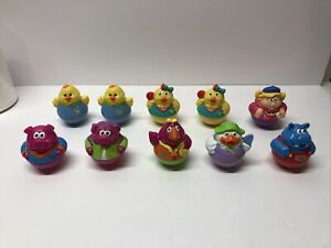 [Lot of 10] 2003-2004 Playskool Weebles by Hasbro~ Pigs, Chicks, Duck, Hippo