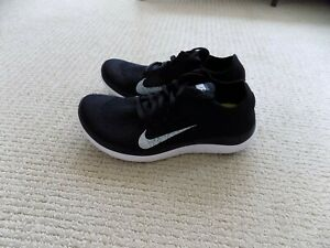 NEW WOMENS 6.5 NIKE FREE 4.0 FLYKNIT RUNNING SHOES BLACK WHITE 631050 001 casual