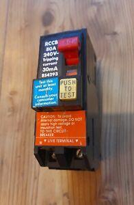 SQUARE D 80 AMP 30mA DOUBLE POLE RCCB RCD type Q0200RCDX