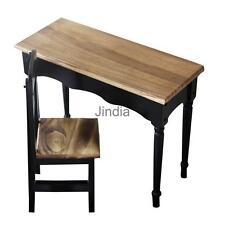Exquisite Mini Wood Furniture Square Desk Chair Set 1/3 BJD SD SOOM Dollfie