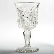 Antique EAPG Wine Glass Hobstars and Zipper Pressed Glass Victorian Era
