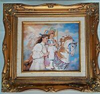 Vintage Franklin Mint Sandra Kuck Memories Porcelain Plaque Carousel Horse