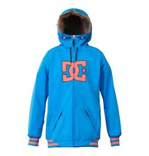 New 2015 Womens DC Brooklyn Insulated Snowboard Jacket Medium Electric Blue Lemo
