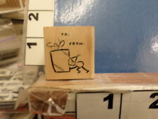 To and From saying package gift   RUBBER STAMP 5m