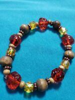 Handmade multi color beads  Stretch Bracelet