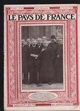 Portrait Dr François Alsace-Lorraine/Batellerie Péniches Canal 1919 ILLUSTRATION
