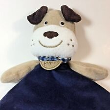 Carters Lovey Dog Rattle Head My 1st Puppy Blue Brown Baby Security Blanket