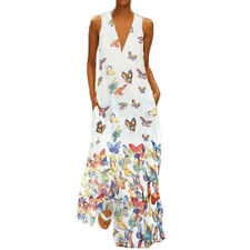 Women Plus Size Boho Summer Holiday Long Maxi Dress Kaftan Beach Party Sundress