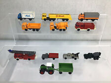 More details for quantity n gauge road vehicles tractor trucks fire engine for model railway #633