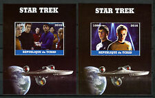 Chad 2016 CTO Star Trek Beyond 2x 1v M/S Movies Film Spock Kirk Stamps