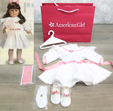 Burgandy Ballet Dress /& Slippers Outfit w// Satin Roses EUC Rare American Girl