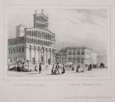 C1840 Lucca San Michele in Foro litografia-vista Arnout