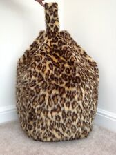 Bean bag cover only children's Leopard faux fur 3 cubic ft Size Animal Print New