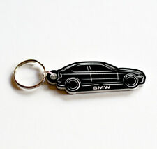 BMW E36 3-Series Keyring Keyfob Brushed Chrome Effect Classic Car Keytag