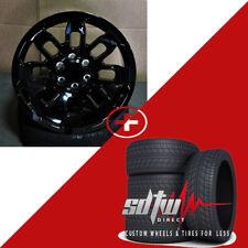 "20"" TRD Style Black Wheels Tires Fits Lifted Toyota Tundra FJ Cruiser Sequoia"
