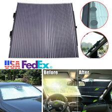 Aluminum Foil Retractable Car Front Windshield Visor Sun Shade UV Protect Cover