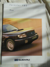 Subaru Forester 4WD 2.0 & 2.0 T range brochure Dec 2000 Swiss market multi text