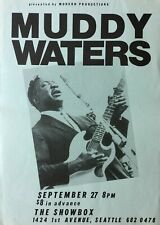 MUDDY WATERS 1980 Seattle CONCERT POSTER - Ultra Rare