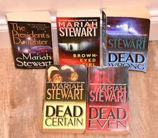 Mariah Stewart Dead Series 1 2 3 Wrong Certain Even FBI Brown-Eyed Girl Book Lot