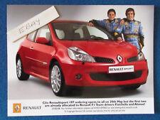 """Foto Original De Prensa Promo - 8""""x6"""" - Ferrari & Alonso-Renault Sport - 2006"""