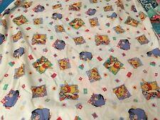 Disney Winnie the Pooh Crib Sheet 1998 Piglet Tigger Eeyore Fabric Material VTG