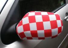 Voiture Rétroviseur Chaussettes drapeaux, coques, Haut les drapeaux ! ! rouge/